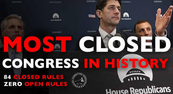Rules Committee Democrats Report on the Most Closed Congress in History feature image
